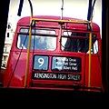 London Buses heritage route 9 blinds, 9 July 2011.jpg