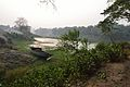 Lone Boat on Riverbank Churni - Halalpur Krishnapur - Nadia 2016-01-17 9052.JPG