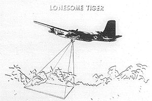 Operation Shed Light - Artist's depiction of a B-26 with Lonesome Tiger FLIR