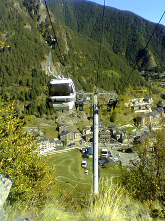 Coma Pedrosa - Cable car station at Arinsal