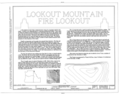 Lookout Mountain Fire Lookout, Cavanaugh Bay 132, Coolin, Bonner County, ID HABS ID,9-COOL.V,1- (sheet 1 of 10).png