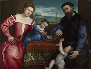 Lorenzo Lotto - Portrait of Giovanni della Volta with his Wife and Children - Google Art Project.jpg