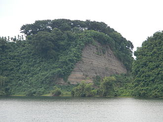 """Tadlac Lake - a closer look on the """"cut"""" left on the northern portion of the crater"""