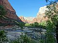 Losing the Sun, Virgin River, Zion NP 2014 (28298052804).jpg