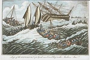 Bangalore (1792 ship) - Image: Loss of the Bangalore