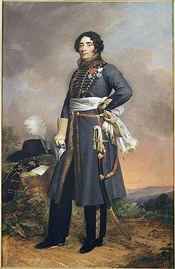 Louis de Frotté, peinture de Louise Bouteiller, 1822.