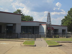 Oil City, Louisiana - The Louisiana State Oil and Gas Museum was pushed to completion by the late State Representative Roy M. Hopkins of Oil City.