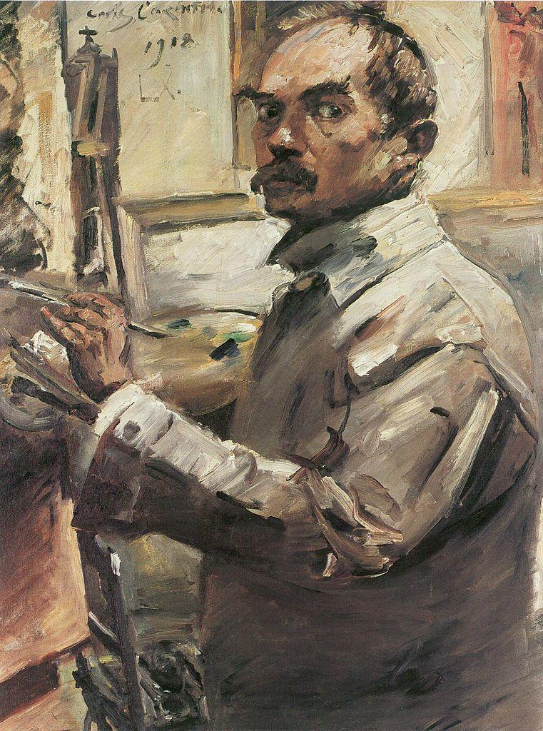 Datei:Lovis Corinth Selbstporträt im weißen Kittel 1918.jpg – Wikipedia