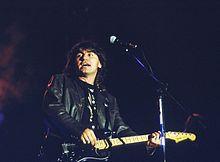 Ligabue nel 1991 in concerto a Venezia