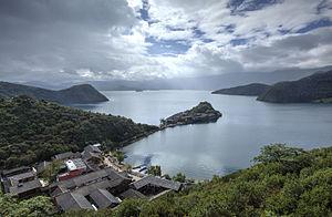 Lugu Lake - Lugu Lake between Sichuan and Yunnan