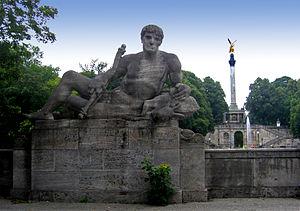 Hermann Hahn - The Hunter (Bavaria), Luitpoldbrücke, Munich