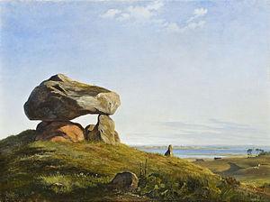 An Ancient Burial Mound by Raklev on Refsnæs - Image: Lundbye, Johan Thomas En gravhøj fra oldtiden ved Raklev på Refsnæs