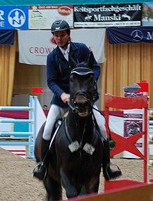Lutz Gripshöver mit Amaretto - Schweriner Horse Show 2011