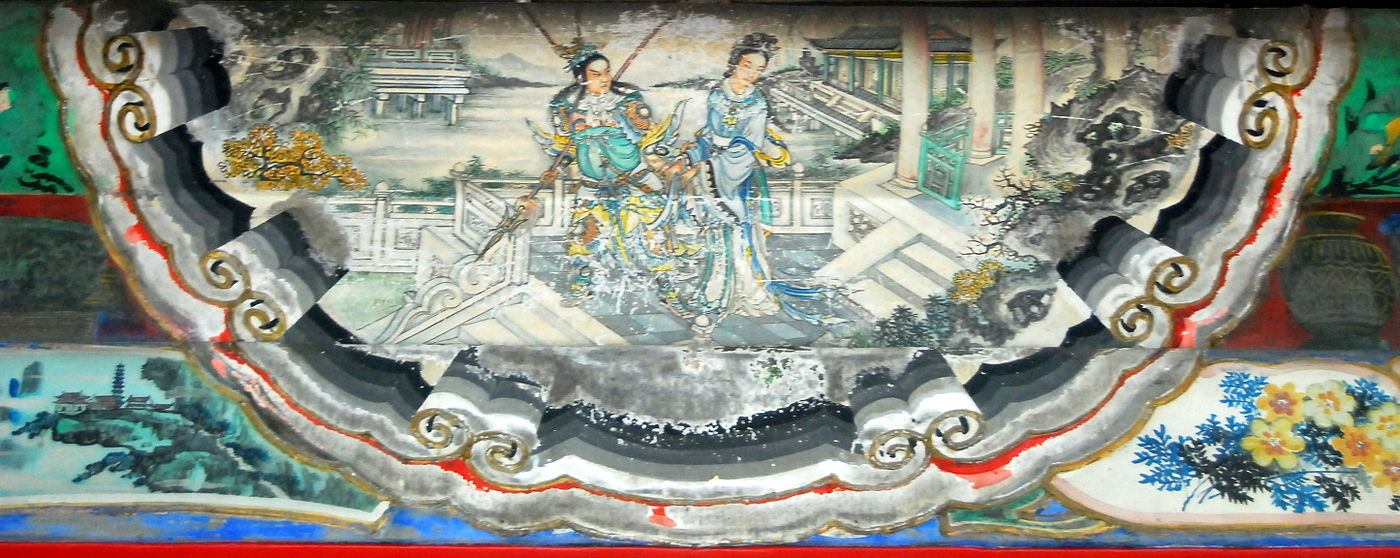 Depiction of Diaochan in the artwork at the Long Corridor, Forbidden City.