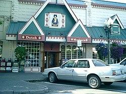 Dutch Mothers restaurant on Front street in Lynden, Washington