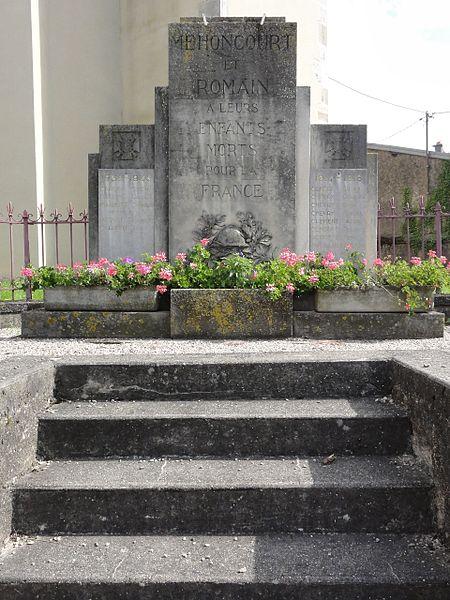 Méhoncourt (M-et-M) monument aux morts