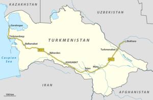 M37 highway (Turkmenistan) - Image: M37 Turkmenistan en