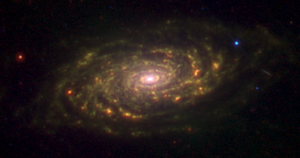 Sunflower Galaxy - Messier 63 seen in infrared by the Spitzer Space Telescope.