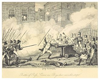 Battle of New Ross (1798) - The Battle of Ross - illustrated by George Cruikshank (1845)