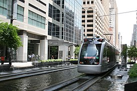 METRORail in Downtown Houston