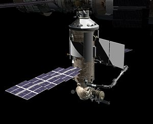 Nauka (ISS module) - Artist's rendering of the Nauka module docked to Zvezda.