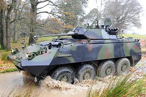 Mowag Piranha - Irish Army Piranha IIIH MRV armed with a 30mm autocannon
