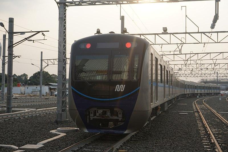 MRT Jakarta train in Lebak Bulus Depot.jpg