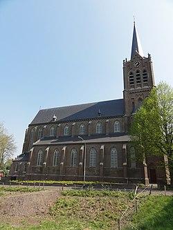 Maasbommel Rijksmonument 523092 RK kerk van opzij.JPG