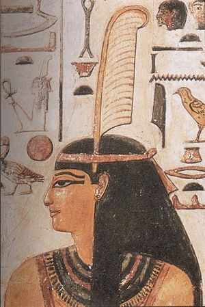 Maat - Maat wearing feather of truth