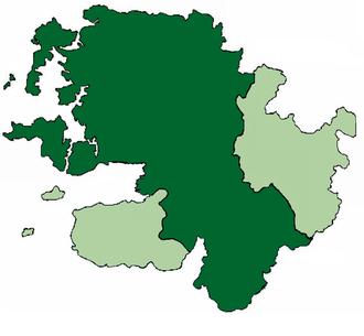 Tiobóid mac Walter Ciotach Bourke - Extend of the Mac William Iochtar Territory within County Mayo, c. 1590