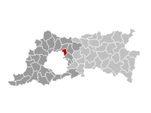 Location of Machelen in Flemish Brabant