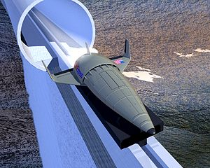 StarTram - A prior concept for likewise a maglev horizontal launch assist system but at far lesser velocity: MagLifter.