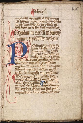Magna carta cum statutis angliae (Great Charter with English Statutes), early 14th-century Magna charta cum statutis angliae p1.jpg