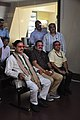 Mahesh Sharma With Prabhas Kumar Singh And Anil Shrikrishna Manekar Watching 3D Video - NCSM - Kolkata 2017-07-11 3533.JPG