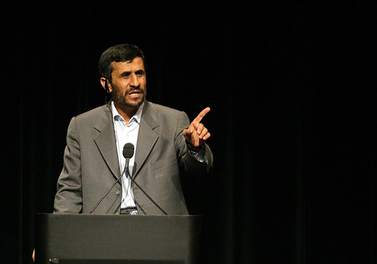 Ahmadinejad saat berpidato di Universitas Columbia (Image: Daniella Zalcman/via en.wikinews.org)