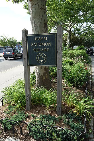 Haym Salomon - Haym Salomon Square in Kew Gardens Hills, Queens, New York City.