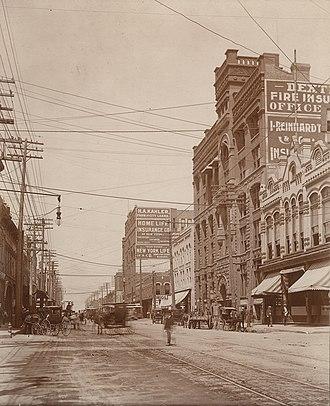 Jesse H. Jones - View of Main Street, Dallas, c. 1900