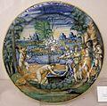 Maiolica di urbino, sforza di marcantonio, narciso, 1544.jpg