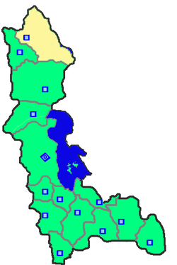 Location of Maku County in West Azerbaijan Province.
