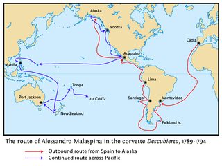 Malaspina Expedition A five-year maritime scientific exploration commanded by Alessandro Malaspina and José de Bustamante y Guerra