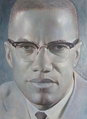 Porträt von Malcolm X des Künstlers Robert Templeton