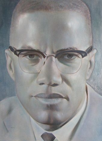 Portrait Of Malcolm X By Robert Templeton From The Collection Lest We Forget Images