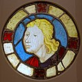 Male head, French, c. 1425, pot metal, glass, silver stain - Princeton University Art Museum - DSC06727.jpg