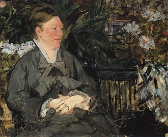 In the Conservatory - Image: Manet Mme Manet im Gewaechshaus
