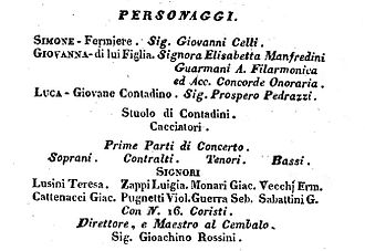 Elisabetta Manfredini-Guarmani - Cast list for the performance of Haydn's The Seasons at the Accademia Filarmonica in Bologna, 10 May 1811
