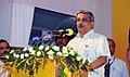 """Manohar Parrikar addressing at the inauguration of three new Central Schemes, """"Pradhan Mantri Jeeven Jyoti Bima Yojana"""", Pradhan Mantri Suraksha Bima Yojana"""", and """"Atal Pension Yojana"""", at tummalapalli Kalakshetram.jpg"""