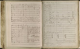Elijah (oratorio) - The manuscript used for the premiere, by a copyist with notes by Mendelssohn, now in the collection of the Library of Birmingham
