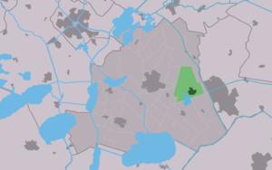 Oudehaske - Image: Map NL Skarsterlân Aldehaske