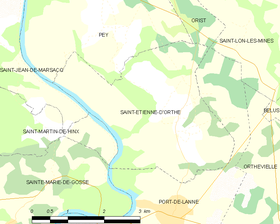 Map commune FR insee code 40256.png