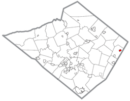 Map of Bally, Berks County, Pennsylvania Highlighted.png